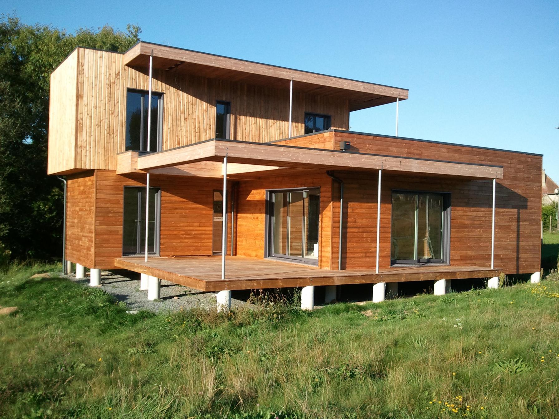 Constructeur Maison En Bois Limoges ossature bois limoges : surélévation maison, extension